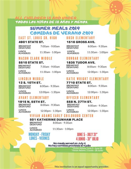 District summer meals